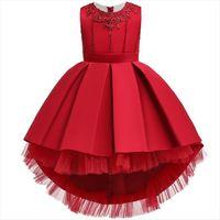 Kids For Girls Embroidery Elegant Girl Dress Princess Children Evening Party Flower Wedding Gown 2 8 12 Year