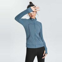 Lulu's same tight elastic coat shows thin fast dry T-shirt breathable running sports women's Yoga suit