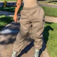 Women's Pants & Capris Fitshinling Casual Women Loose Sweatpants Cotton 2021 Winter Joggers Athleisure Work Out Solid Basic Pant Female
