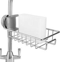 Stainless Steel Kitchen Faucet Rack Holder Caddy Organizer Soap Sponge Drain for Bathroom Accessories Sink Shelf