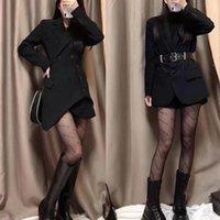 Autumn Kuqi cucci net red Paris silk stockings women's family thin black letter double g