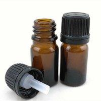 Botellas de vidrio para aceites esenciales Viales de gotero con tapa de orificio Aromaterapia Muestras de perfume DIY Suministros Herramienta