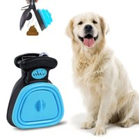 Dog Poop Bag Dispenser Pet Viaggio Pieghevole Pieghevole Poloper Scooper Allegato Scoop PULIRE PICK UP EXCRETA Cleaner all'aperto