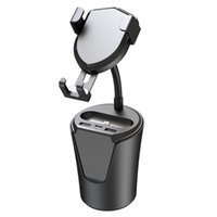 car mobile phone charger dual usb Multifunction wireless charger Holder BX8