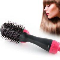 Elektrische Haare Bürsten Negatives Ionentrockner und Styler Professional 2 in 1 schneller glatter Detangling-Glätterpinsel