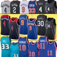 30 Julius Derrick Randle New Rose 농구 유니폼 9 Rj York Patrick Barrett Ewing Russell 2 Lamelo Westbrook Ball Jerseys