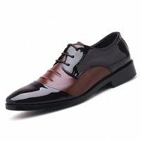 Negocios para hombre Vestido Zapatos Oxfords Moda Moda Elegantes zapatos de boda formales hombres resbalones en Office Oxford para hombres Black Brown 2019 R3cs #