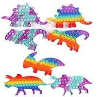 Большой динозавр силиконовые силиконовые игрушки игрушки пальца пузырьки цвета настольные головоломки декомпрессионные ментальные математические математики я главная игра Plate Free DHL