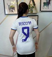 Real Madrid Home White Soccer Jersey Mujeres 21/22 #benzema # 7 Peligro Lady Soccer 2021/2022 # 8 Kroos # 10 Modric Girl Uniforme de fútbol # 11 Asensio Female Deportes Ropa de desgaste