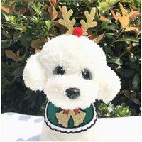 Собаки нагрудник рождественские собака вязаные бандана домашних животных аксессуары для собак шарф домашних животных Щенок appare accesorios elk волос орнаменты dhe6068