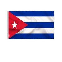 Yeni Kişilik Yaratıcı Küba Ulusal Bayrak 90 * 150 cm Boyutu Polyester Yüksek Kalite Ile İki Pirinç Yıkayıcılar Toptan