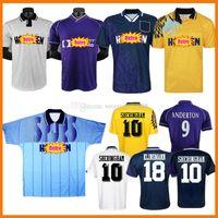 Gascoigne Retro Jerseys de futebol 1983 1984 1998 1998 1993 1995 1990 Mabbutt Ruddock Sheringham Lineker Cundy Walsh Barmby Vintage Camisa de Futebol Clássico