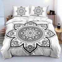 Set di biancheria da letto Modelli Mandala Biancheria da letto Lenzuola 3D Consolatore / Quilt / Copertura piumino Set King Queen Full 200x200 Taglia Arabo Pedspread