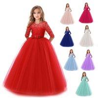 Vestidos de niños de boda para niñas para niña vestido de fiesta de encaje princesa verano adolescente niños princesa dama de honor vestido 8 10 12 14 años 886 v2