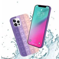 POP FIDGET RELIVER 스트레스 무지개 전화 케이스 iPhone 7 8 x 11 12 Pro Max Push Bubble Antistress Toys Cover Thinking Chess 보호 셸