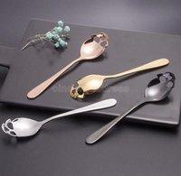 Sugar Skull Tea Spoon Stainless Steel Coffee Spoons Dessert Spoon Ice Cream Tableware Funny Flatware Spoon Kitchen Accessories CJ11
