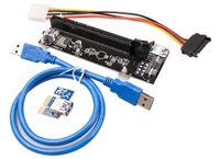 Blue Ver007s اللوحات الأم 007s pci-e riser pcie1x to16x risers card محول 60cm usb كابل ل bitcoin التعدين