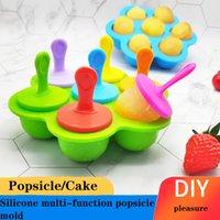 Çok amaçlı Popsicle Kalıpları Yaz Silikon 7-Delik POPSICL Renkli DIY Dondurma Tepsi Yaratıcı Kek Özel Kalıp