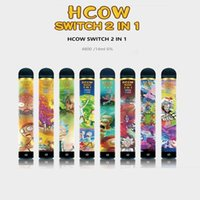 HCOW Switch Disposable E Cigarette 2IN1 Vape Pen Stick 4800 Puffs 1900mAh Battery Pre-filled 14ml 6% Level VS Bar Flow XTRA Plus XL Gunnpod Hyppe MK Factory wholesale