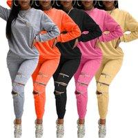 Eşofman Sportwear Fermuar Fly Delik Sweetsuit kadın Kazak Jogger Pantolon Set Aktif Eşofman Iki Parçalı Fitness Kıyafetler
