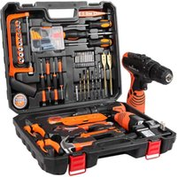 Professiona Electric Drills Power Tools Combo Kit Tool Set With 60pcs Accessories Toolbox 16.8V Cordless Drill For Home Repair Kits 2 Batter