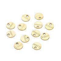 50pc / lot in acciaio inox Scultura in acciaio in acciaio ovale fascino pendente piccolo estendere catena tag gioielli per la produzione di accessori fai da te 1525 q2