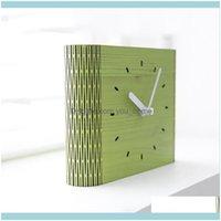 데스크 데코 Gardendesk 테이블 시계 현대 미니멀리스트 나무 시계 거실 침실 홈 진자 노르딕 추짐 여성 음소거 50y034