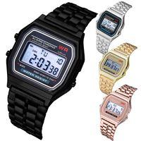 Дизайнерские часы Марка Часы Роскошные Часы Бизнес Многофункциональный Светодиодный Светодиодный Спортивный Запястье Электронные часы