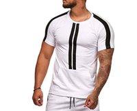 T-shirt 2019 Summer Mode Personnalité Sports Sports Bande de loisirs Ronde Col à manches courtes à manches courtes T-shirt multicolore T334