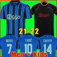 Футболка AJAX Амстердам 2022 KUDUS ANTONY BLIND PROMES TADIC NERES CRUYFF 21 22 men + kids kit футбольная рубашка форма третье