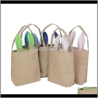 Wrap Event Festive Party Supplies Home Garden Drop Delivery 2021 Bunny Ears Basket Bag 10 Styles Cotton Linen Handbag For Easter Candy Child