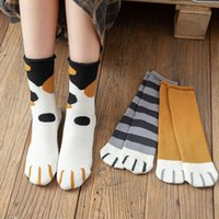 2021 New Autumn Winter Cat Paw Cartoon Pattern Series Cotton Ladies Socks Funny Cute Style For Christmas Gift Women Crew Sox