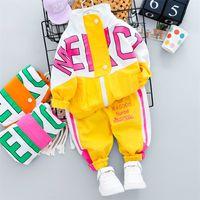 HYLKIDHUOSE Yenidoğan Bebek Giyim Setleri 2020 Sonbahar Bebek Kız Erkek Giysileri Moda Mont Pantolon Çocuk Çocuk Rahat Kostüm 771 V2