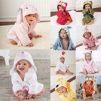 Lovely Baby Girls Dessin animé Peignoir à capuche Enfant Enfant Towdler Serviette Robe Mignon Hiver Baby Vêtements Sleepwear 2063 Z2