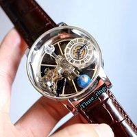 نسخة ثابتة EPIC X Chrono CR7 الساعات الفلكي Tourbillon الهيكل العظمي Aventurine الطلب السويسري كوارتز الفضة حالة مصمم رجالي ووتش