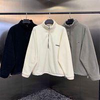 Essentials of God Half-Zip Stand Collar Collane con cappuccio Uomo Hip Hop Streetwear Streetwear di alta qualità Felpa in pile in pile Y0902