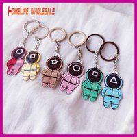 Squid Game Keychain Acrylic Key Pendant Ornament Decoration Toy Popular Games Cosplay Key Ring 2021 New Product