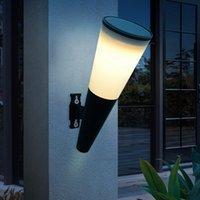 2pack Neue LED Outdoor Wandleuchte Bunte wasserdichte Fackel Solarlampe für Gartendekoration Balkon Treppenhaus Straße Solarbeleuchtung