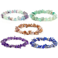 Charm Bracelets Personality Natural Stone Irregular Shape Gravel Agate Crystal Chip Loose Beads Bracelet For Women And Men
