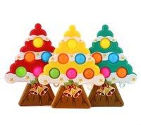 Stati Uniti Fotografia Stock Regali di Natale Forma dell'albero Push Up Bubble Bambini Fidget Giocattolo Partito Partito Adulto Pinza Adulto Antistress Mano Squishy Toys Giocattoli