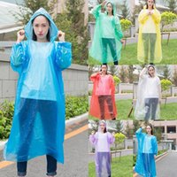 Einmalige PE-Regenmantel Mode Einweg-Regenmäntel Poncho Regenbekleidung Reise Regenmantel für Reisen nach Hause Einkaufen WLL630