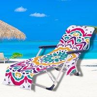 غطاء كرسي الشاطئ 32 لونا صالة بطانيات محمولة مع مناشف حزام اللون الهندسي GWF6027