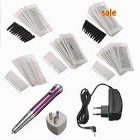 Tätowierungen Kits Pro 100-240V Permanent Make-up Augenbrauenstift Maschine Augenbrauen Waffe 50 Nadeln Tipps Kit Set DIY Beauty Tools1