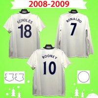 United Ronaldo Rooney 축구 유니폼 레트로 맨체스터 2007 2008 축구 셔츠 07 08 빈티지 클래식 Nani 남자 UTD 긴 소매 Vidic Berbatov Anderson Tevez Giggs Scholes