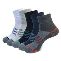 Sports Socks 5 Pack Men's Sport Ankle Cotton Cushioned Quarter Sock Athletic Basketball Thick Compression Outdoor Running