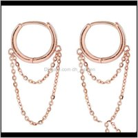 Hie Drop Delivery 2021 Gold Chains Hoop Hip Hop Chain Dangle Women Earrings Fashion Jewelry Will And Sandy Tbweu