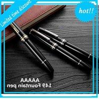 الفاخرة 149 أسود الراتنج رولربال الكلاسيكية حامل كبير نافورة القلم القرطاسية اللوازم مكتب المدرسة الكتابة هدية حبر الأقلام 0dty