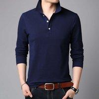 Поло 2021 мода мужская с длинным рукавом футболка с длинным рукавом весна и осень отворота деловая повседневная вершина нижняя рубашка поло