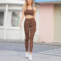 Los mejores diseñadores Ropa Trajes de mujer Juego de mujeres Establecer entrenamiento Deportes Fitness Leopardo Trajes de impresión Tallas de cultivo Leggings Outdoor Trajes Pantalón Pantalón Moda Mujer Sudaderas