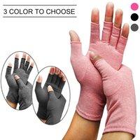 1Pair Article Dolor Health Care Guantes de compresión Capacitación Unisex Elástico Terapia de alivio Mano Artritis Medio Finger Lavable Ciclismo